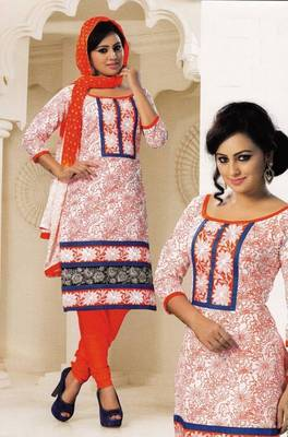 Radiant Cotton Embroidered Salwar Suit Dress Material D.NO SV1076
