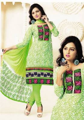 Radiant Cotton Embroidered Salwar Suit Dress Material D.NO SV1078