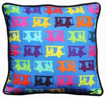 Multicolor Taxi's Cushion Cover