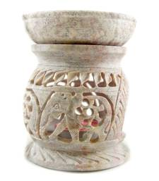 Buy Handcarved stone oil burner diffuser(Elephant Design) candle online