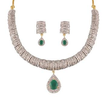 Heena Classic collection Necklace set >> HJNL151G <<