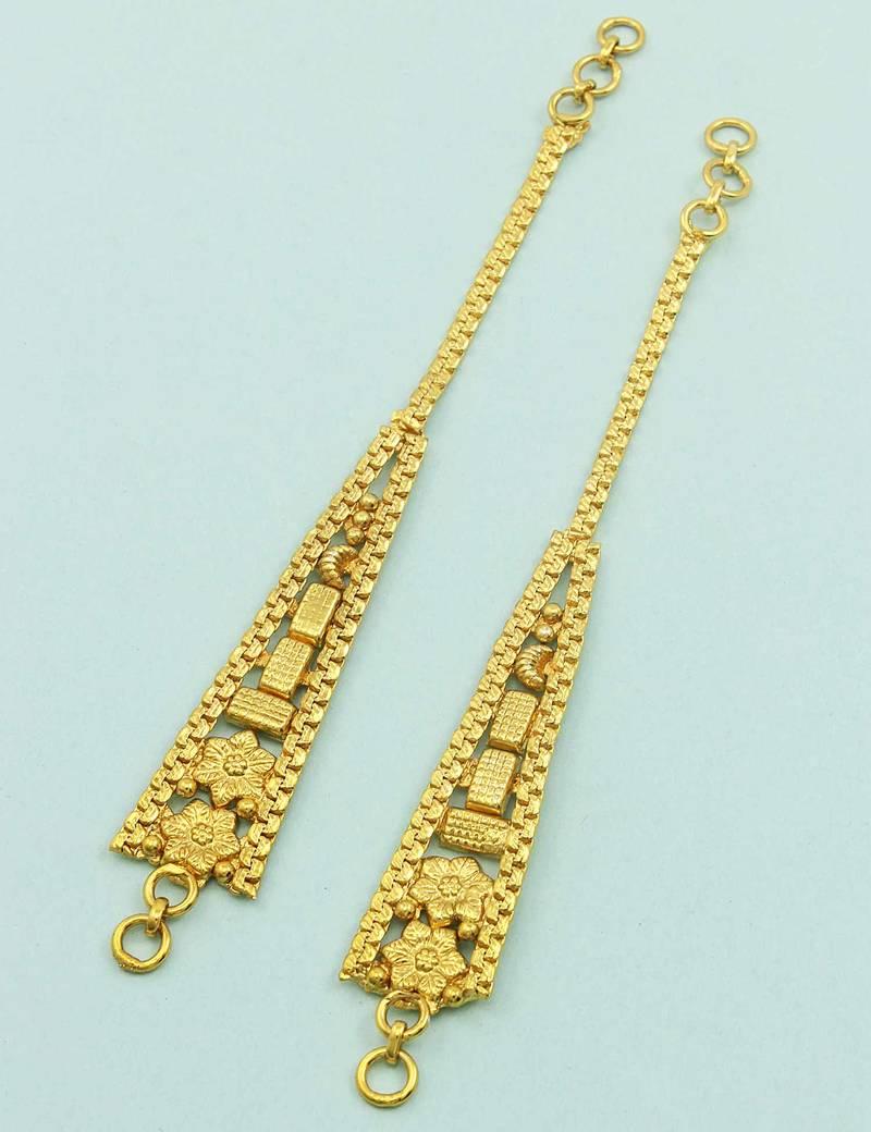 Buy Golden traditional ear chain jewellery for women Online