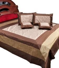 Buy Jaipuri Designer Double Bedcover Cushion Set bed-sheet online