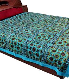 Buy Barmeri Embroidery MirrorWork Double Bed Cover bed-sheet online