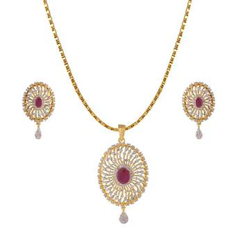 Heena Contemporary Collection Pendent Set @ HJPN152R