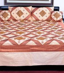 Buy Embroidered Brocade Silk Double Bed Cover Set bed-sheet online