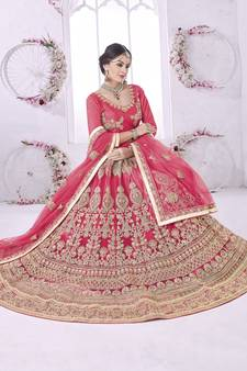 cedfa5167c Pink Lehengas Online | Buy Pink Color Lehenga Designs @ Discounted ...