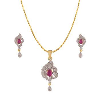 Heena Contemporary Collection Pendent Set >> HJPN163R <<