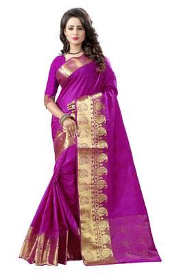 Majnata woven banarasi silk saree with blouse