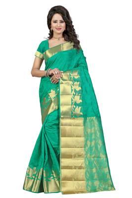 Rama woven banarasi silk saree with blouse