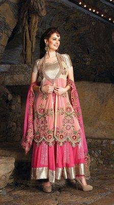 Heavy Embroidered Premium Fabrics Dress Material SC6516