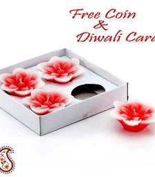 Buy Floating Aroma wax candles in set of 04 diwali-decoration online