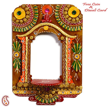 Palace Window Wood and Clay Art Work Wall Photo Frame