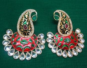 Paisley earrings-KEG068