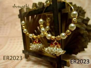 Temple jewelry jhumka earring