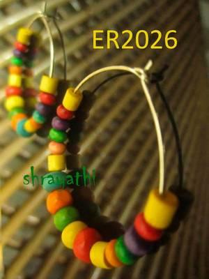 Wooden beads hoops