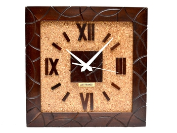 Hand-Made Roman Numerals Wooden Antique Design Wall Clock