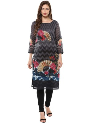 Multi stitched Poly Chanderi stitched kurti