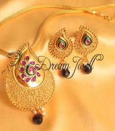 Beautiful Antique Purple Mango Designer Necklace Set