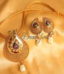 Beautiful Antique Pearl Mango Designer Necklace Set