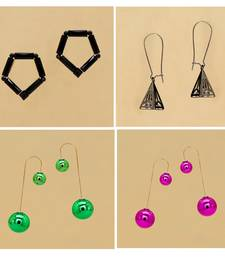 New Collection Combo Of 4 Different Trendy Multi Earrings For Girls/Women