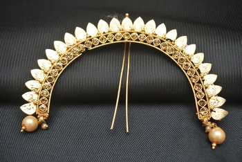 gold studded jewellery hair accessories