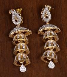 Buy Gold cubic zirconia danglers-drops danglers-drop online