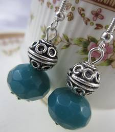 Buy Teal and German Silver Earring online