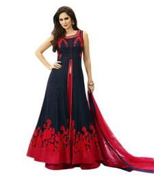 Buy Red plain silk semi stitched lehenga choli with dupatta (Premium quality) punjabi-lehenga online