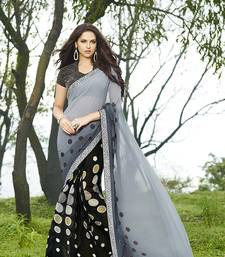 Buy multicolor printed georgette saree with blouse printed-saree online