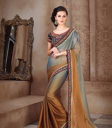 Buy multicolor embroidered chiffon saree with blouse