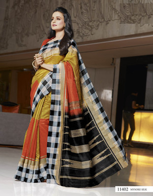 Styloce Multi Color Bhagalpuri Silk Saree-STY-106-11402