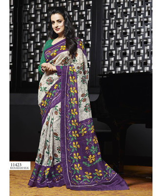 Styloce Multi Color Bhagalpuri Silk Saree-STY-106-11423
