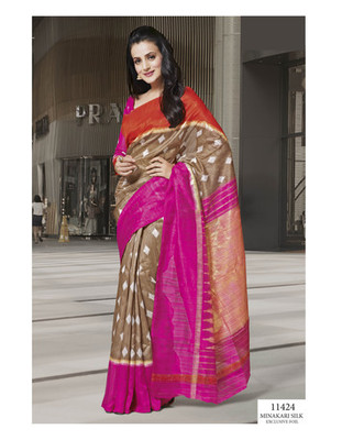Styloce Multi Color Bhagalpuri Silk Saree-STY-106-11424