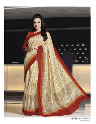 Styloce Multi Color Bhagalpuri Silk Saree-STY-106-11426