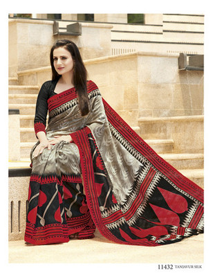 Styloce Multi Color Bhagalpuri Silk Saree-STY-106-11432