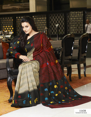 Styloce Multi Color Bhagalpuri Silk Saree-STY-106-11438