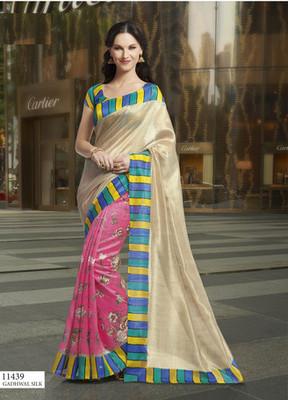 Styloce Multi Color Bhagalpuri Silk Saree-STY-106-11439