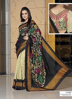 Styloce Multi Color Bhagalpuri Silk Saree-STY-106-11440