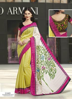 Styloce Multi Color Bhagalpuri Silk Saree-STY-106-11443