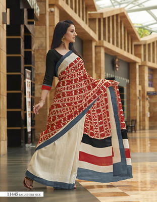 Styloce Multi Color Bhagalpuri Silk Saree-STY-106-11445