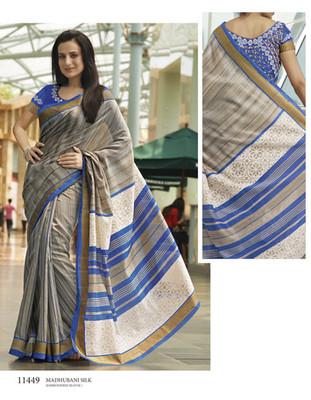 Styloce Multi Color Bhagalpuri Silk Saree-STY-106-11449