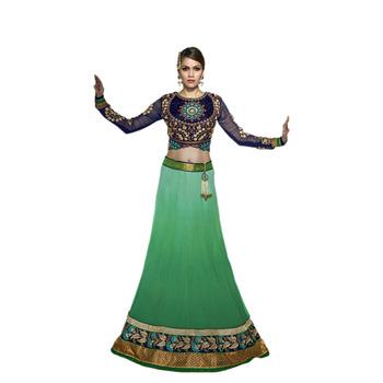 Khwaab Shaded Green Georgette Sheesha1003