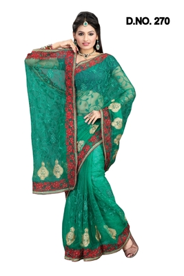 RAMA NETT PARTY WERE SAREE NWITH BLOUSE