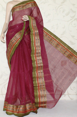 Designer Bengal Handloom Tant Cotton Saree (Without Blouse)