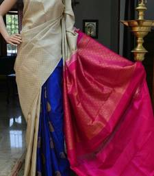 Buy Multicolor printed art silk saree with blouse