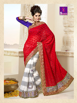 BANARASI DESIGNER SAREE WITH HEAVY EMBOIDERY WORK