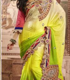 Buy Multi Embroidery  Poly Satin satin-saree online