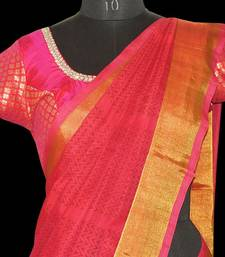 Buy Printed Silk Cottton saree with blouse traditional-saree online
