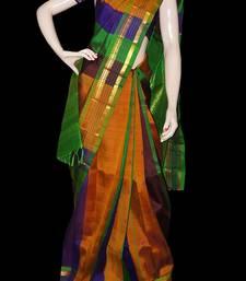Buy Designer pure silk saree with blouse silk-saree online